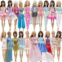 Randomly Pick 5 Sets Doll outfit Dress Swimsuit Pajama Skirt Trousers Pants Blouse Clothes
