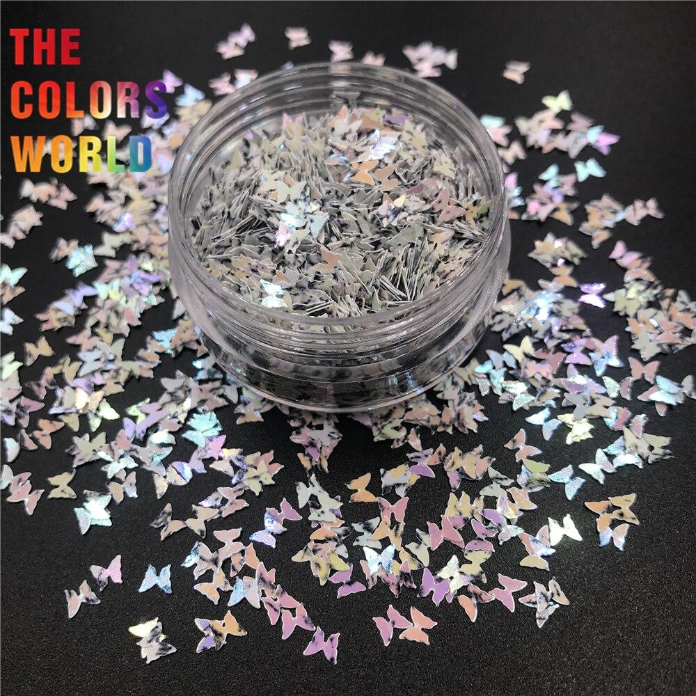 TCT-418 borboleta 3mm forma prego brilho arte do prego decoração corpo arte tumbler artesanato diy handwork acessórios festival fornecedor