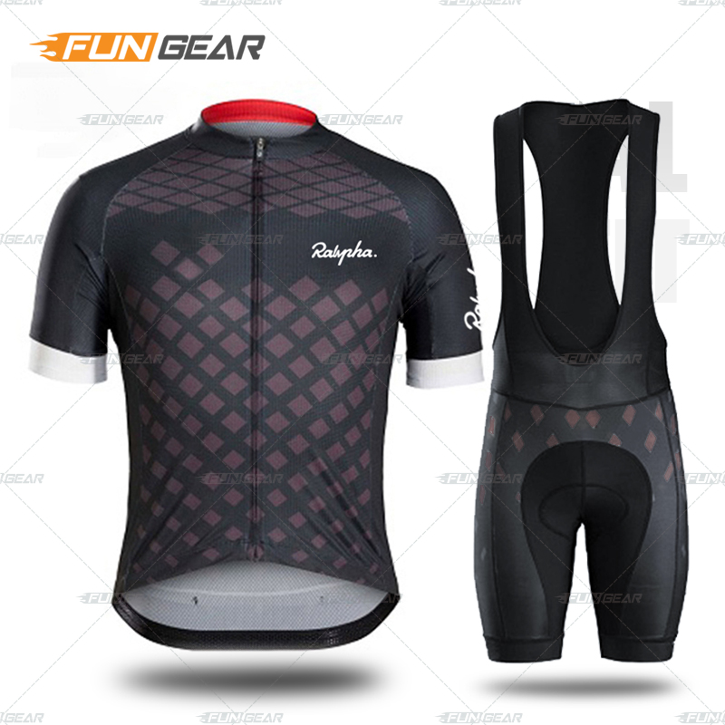 New Cycling Jersey Men Bike Set Fast Dry Short Sleeve And 3D Padded Bib Shorts