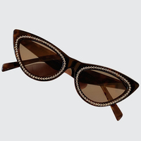 Cat Eye Sunglasses Women Vintage Gradient Retro Diamonds Sun glasses Designer Female Shades UV400