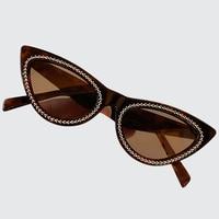 Cat Eye Sunglasses Women Vintage Gradient Retro Diamonds Sun glasses Designer Female Shades UV400