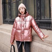 DICLOUD Winter Hooded Down Jacket Women Thicken Warm Parka R
