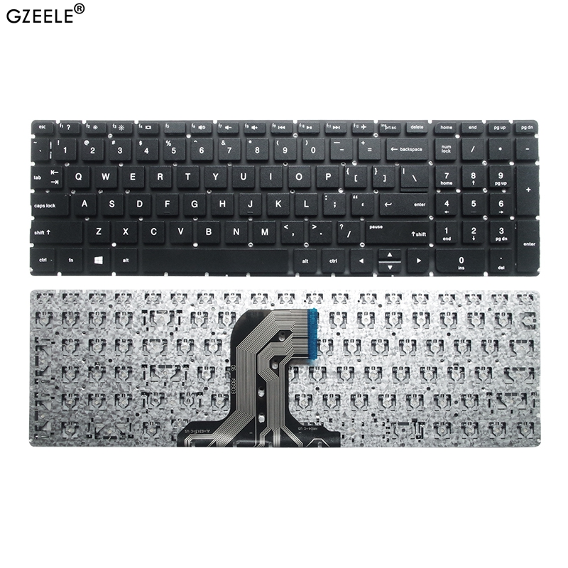 GZEELE US Laptop Keyboard For HP Notebook 15-AC 15-AF 15Q-AJ 250 G4 G5 255 G4 G5 256 G4 G5 15-AY 15-BA 813974-001 Without Frame