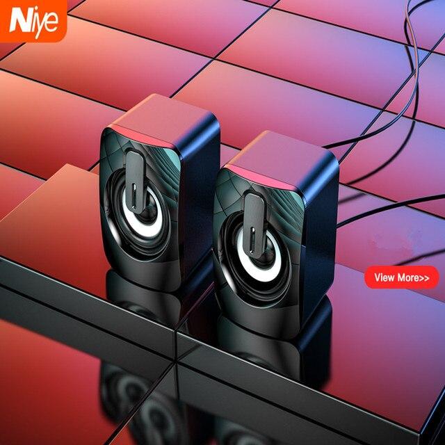 USB Computer Speaker Deep Bass Stereo Sound Music Player Speakers for Macbook Laptok Desktop Notebook Computer Loudspeaker 1