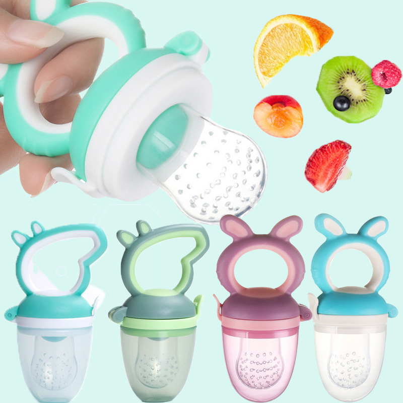 Fresh Fruit Food Safe Baby Pacifiers Feeder Fruit Feeding Baby Food Container Pacifier Bottles Baby Bottle Kid Fruit Nipple Teat