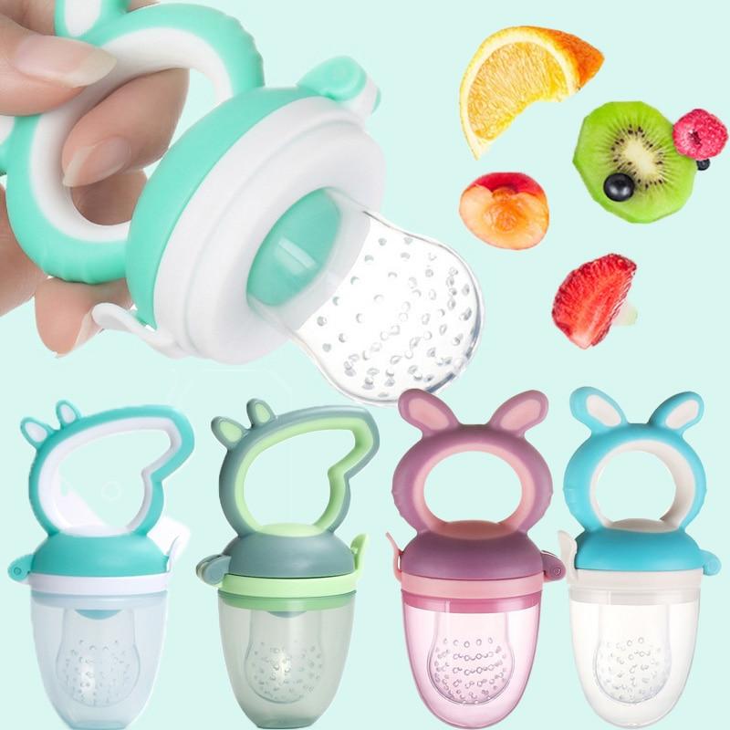 Fresh Fruit Food Safe Baby Pacifiers Feeder Fruit Feeding Baby Food Container Pacifier Bottles Baby Bottle Kid Fruit Nipple Teat
