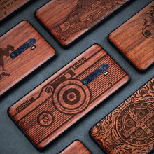 Carveit For OPPO Reno 2 Wood Case Original Accessory Shockproof Cover Luxury Carved Real Wooden Shell Thin Protective Phone Hull
