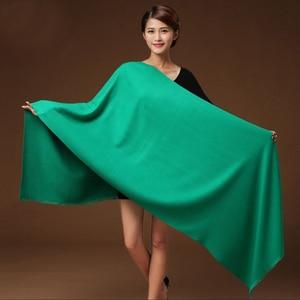 Image 4 - 300 グラム秋冬固体新しい起毛ロングスカーフ女性ラクダ冬男性スカーフ女性女性パシュミナ女性のスカーフストールショール