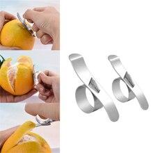 Лимонный апельсин цитру нож для пилинга креативное кольцо из нержавеющей стали открытое оранжевое устройство Улитка фруктовый Овощечистка инструмент для приготовления пищи кухонный гаджет