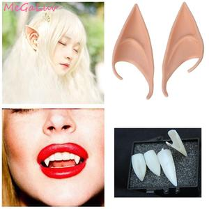 Halloween Cosplay Props Mysterious Angel Elf Ears Vampire Teeth Costume Christmas Party Decors Birthday Party Supplies(China)
