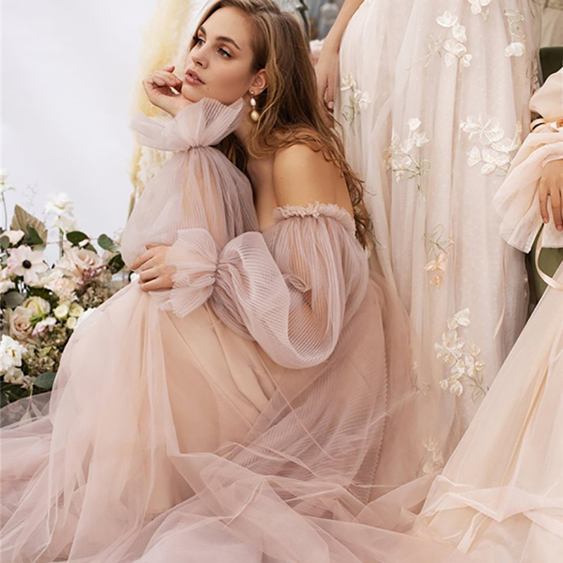 Eightree Pink Wedding Dresses  Plus Size Wedding Gowns 3