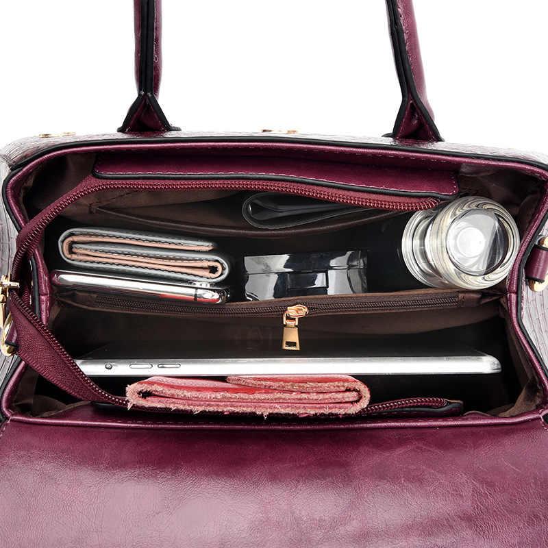 Sacos de marca feminina de luxo bolsa de ombro bolsas de ombro feminino saco de mulher marrom do vintage feminino bolsas de ombro