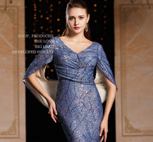 tailor shop purple blue sequin dress host evening dress banquet elegant gown embroidery sequin lace dress slim fit sequin dress sequin embellished mixed media dress