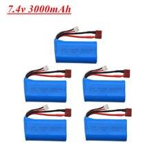 7.4V Bateria lipo 3000mah 18650 Para Wltoys 144001 A959-B A969-B A979-B Q39 K929-B 12428 12423 10428 RC Car Peças De Reposição