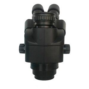 Image 4 - 3.5X 90X lehimleme trinoküler stereo mikroskop + SMD 38MP HDMI dijital USB Video kamera + LCD 8 inç PCB monitör + 144 Led ışıkları