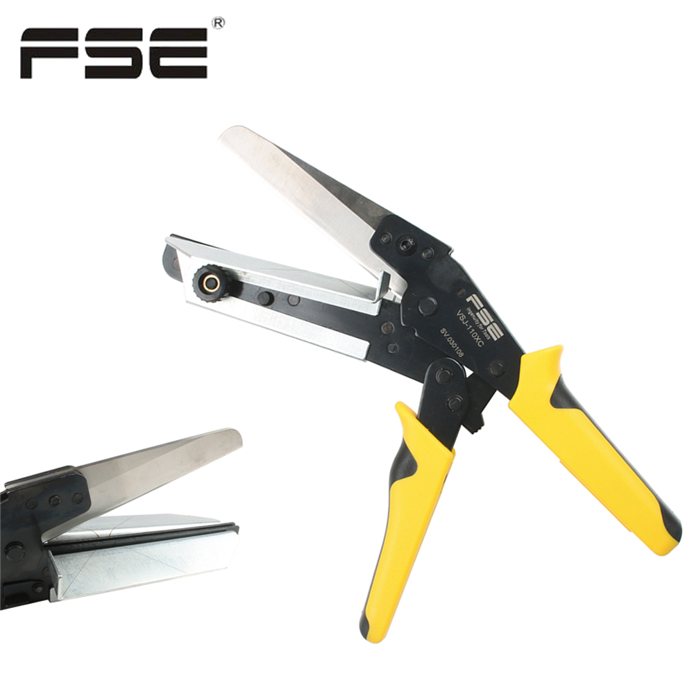 45 90 Degree Trunking Scissor Multi Angle Mitre Wire Duct Cutter PVC PE PPR Plastic Pipe Cutting Trim Cutter VSJ-110XC
