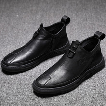 2019 Newly Man Winter Boots Quality Microfiber Leather Shoes Brand Black Warm Th