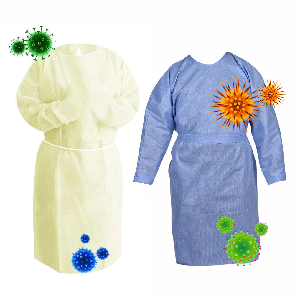 Disposable Anti-dust Clothing Gown Factory Hospital Safety Coverall Protection Isolation Suit