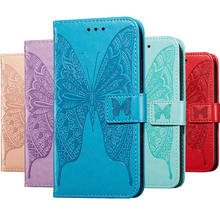 Big Butterfly Wallet Flip Leather Case For Samsung Galaxy A30 Case Magnetic Stand Book Cover For Samsung Galaxy A30 Cover Bag(China)
