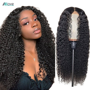 Allove Curly Human Hair Wig13x4 13X6 Lace Front Human Hair Wigs For Women 360 Lace Frontal Wig Brazilian Curly Lace Front Wig