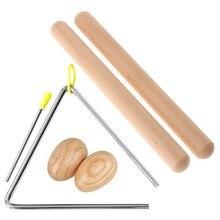 Instrumento de percusión Musical de 6 pulgadas para niños, baquetas de ritmo, clavos de madera, instrumento de percusión Musical manual