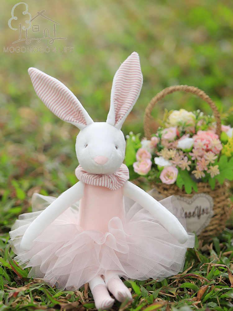 38cm luksusowe lalka króliczek prezent na wielkanoc dostosowane miękkie zabawki 100% handmade wypchane zwierzę baleriny lalka króliczek księżniczka lalka króliczek