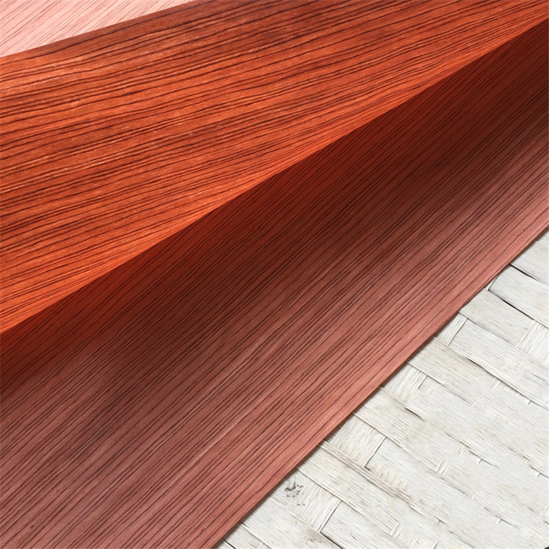 2x Technical Veneer Sliced Wood Engineering Veneer E.V.  Rosewood Sandalwood Straight Grain Striped Q/C Red