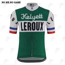 NO ME ningún juego 4 estilo Retro ciclismo Jersey hombres verde ciclismo de competición en carretera ropa MTB bicicleta desgaste Vintage camiseta para bicicleta de montaña