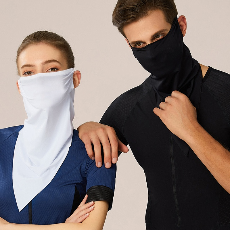 5 Pcs Outdoor Bandanas Suit Summer Anti-sweat Solid Color Unisex Face Cover Breathable Headwear Cycling Running Sports Scarves