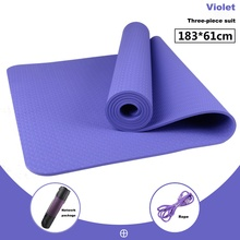 1830 * 610 * 6mm TPE Yoga Mat Double-sided Non-slip Quality Sports Mat Fitness Gym Home Environmentally Friendly Tasteless Mat 1 pc fangcan tpe single layer standard yoga mat skin friendly non toxic and environmentally friendly