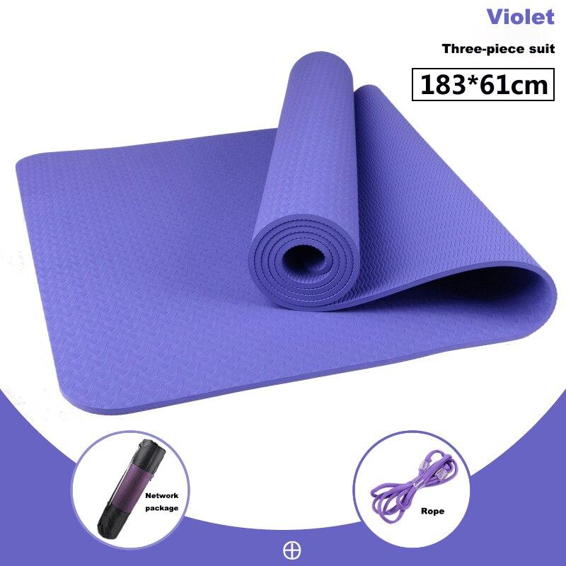 1830*610*6mm TPE tapis de Yoga Double face antidérapant qualité tapis de sport Fitness Gym maison écologique tapis insipide