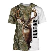JUMEAST mężczyźni 2021 nowa moda Deer polowanie t shirt hunter lato 3d t-shirty reaper drukuj tees casual krótki rękaw topy