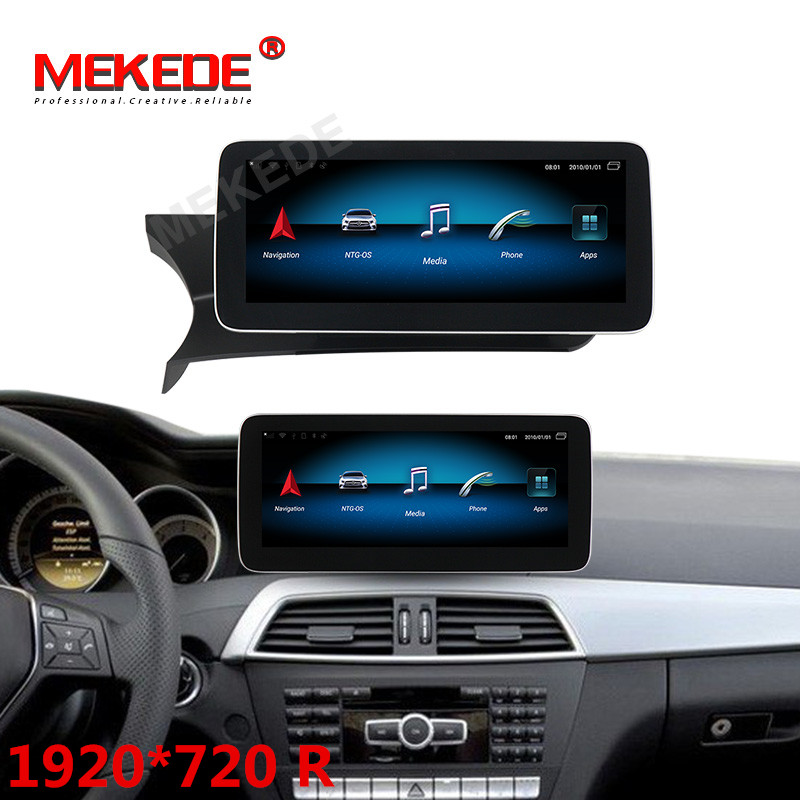 HD 2DIN Android 9.0 8 Core 4G+64G 4G LTE Car GPS Navigation Multimedia Player For Mercedes Benz C W204 2011-2013 BT Touch Screen