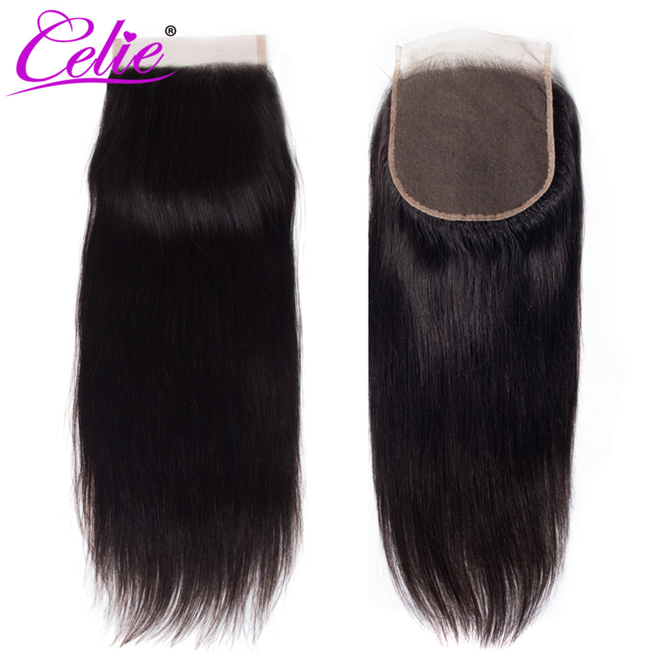 Image 5 - Celie 6x6 Lace Closure Straight Human Hair Closure With Baby Hair Free/Middle/Three Part Remy Brazilian Hair Lace Top Closure-in Closures from Hair Extensions & Wigs