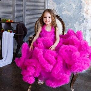 Великолепные платья для девочек на свадьбу с облаком; Праздничные платья для маленьких девочек; Платья для выпускного вечера, дня рождения