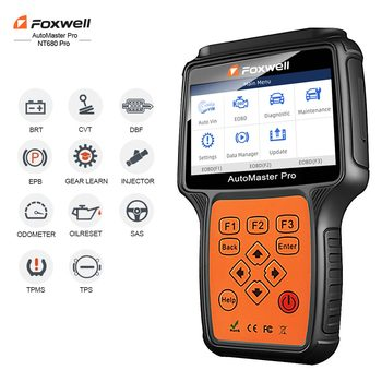 Foxwell NT680 pro All Systems Diagnostic Scanner with Oil Light/Service Reset+EPB Functions Updated Version of NT624 Full System foxwell nt624 odb2 car diagnostic tool full system obd2 scanner abs srs epb oil service reset obd2 automotive scanner