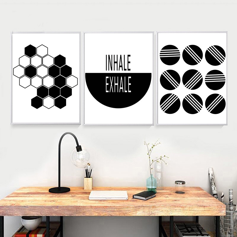 Nordic Style Creative Bicycle Decorative Picture Geometric Abstract Minimalist Bedroom Childrens room Canvas Art Painting