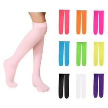 10 Colors Kids Girls Socks Candy Color Baby Knee High Long S