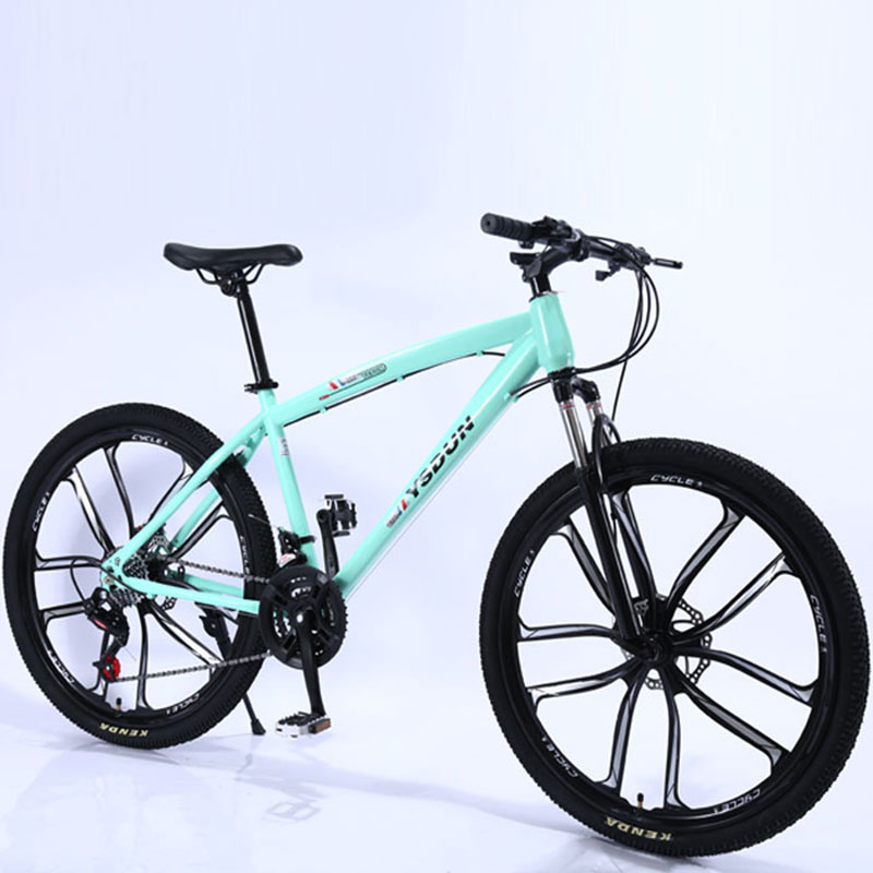 Mountain Bike Man Student One Round Ten Knife Youth Racing Women Speed Double Disc Brakes Shock Off Road Adult Bicycle|Bicycle| |  - title=