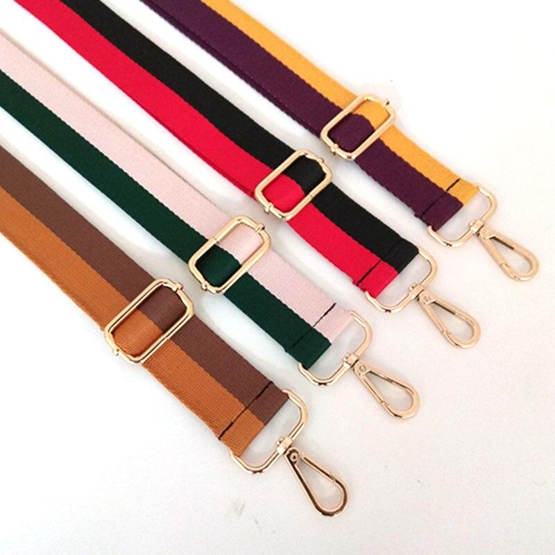 125cm Women Crossbody Shoulder Bag Wide Strap Belt For Bag Striped Adjustable Strap Replacement Handbag Handle Bag Accessories