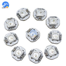 10Pcs DC 5V 3 Mm X 10 Mm WS2812B SMD RGB LED Mini Papan PCB 5050 Chip Built-In IC-WS2812 Kualitas Terbaik(China)