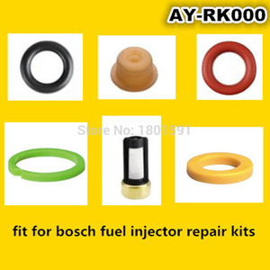 Image 5 - 4sets  Fuel injector repair kit /injector parts for bosch universal including micro filter oring plastic gasket pintle cap