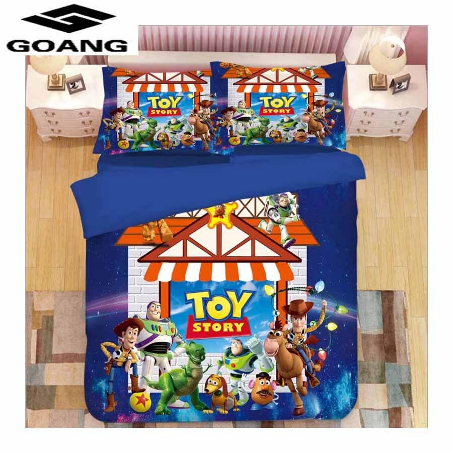 GOANG bedding set 3d Digital printing Toy story bed sheet duvet cover and  pillowcase 100% Superfine fiber luxury bedding