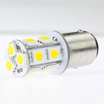 10 unids/lote 1157 LED BUBL P21W 12V 24V 13LED 5050SMD bombilla luces traseras del vehículo luces de freno luces de marcha atrás intermitentes laterales