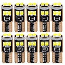 Luz LED Canbus superbrillante para Interior de coche, luz de estacionamiento automático, bombilla lateral trasera, 10 uds., T10, W5W, WY5W, 2825