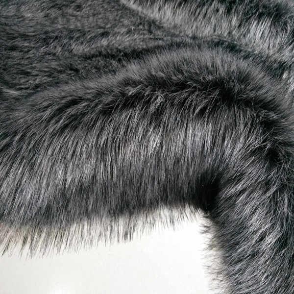 180cm * 10cm gümüş tilki uzun kazık 7cm kalınlaşmak yumuşak yapay tilki peluş suni kürk kumaş DIY ayakkabı ceket yaka yelek yastık oyuncak