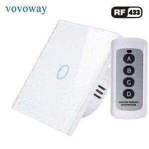Image 1 - Vovoway EU touch schalter licht schalter RF Wireless fernbedienung 1s 2s 3Gang AC110V 220V Wand post touch installation
