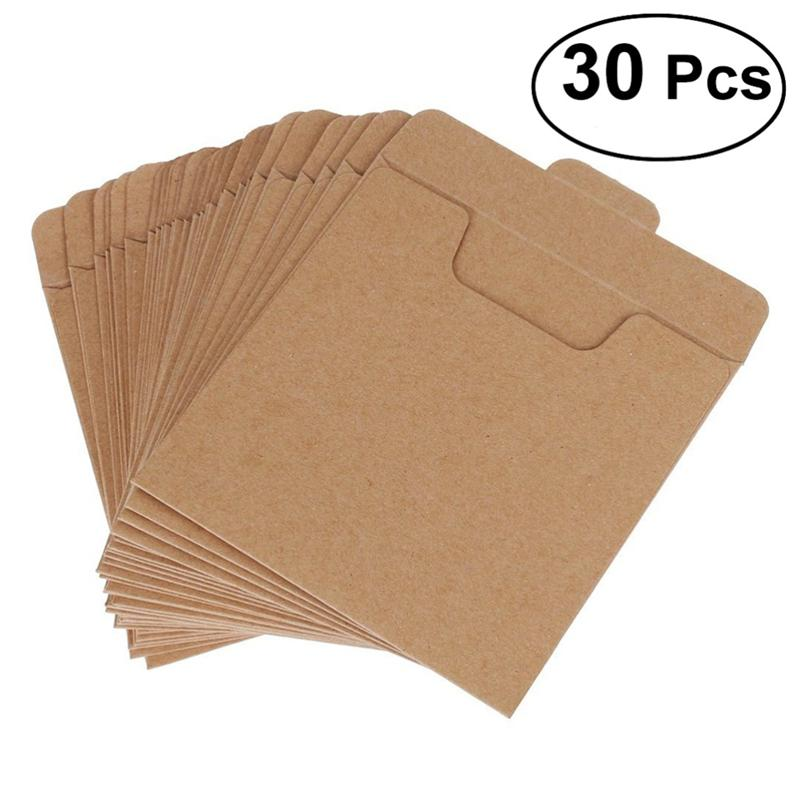 30pcs Packaging Envelopes CD DVD Kraft Paper Sleeves Disc Paper Bag title=