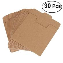 30 sztuk koperty opakowaniowe CD DVD papier pakowy rękawy płyta papierowa torba