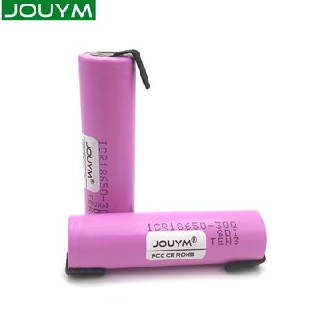 JOUYM ICR18650 30Q 18650 3000mah Rechargeable Battery 30A Large Current 18650 High-current Power Discharge+Welding Nickel Sheets jouym icr18650 30q 18650 3000mah rechargeable battery 30a large current 18650 high current power discharge welding nickel sheets